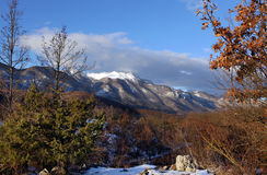 Winter view. End of winter, snowy mountain Royalty Free Stock Photos