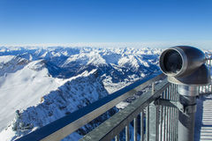 Winter view in the Alps Stock Images