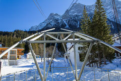 Winter view in the Alps Royalty Free Stock Images