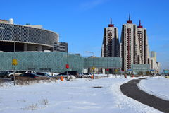 A winter view in Astana Stock Images