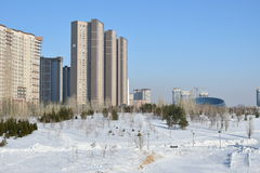 A winter view in Astana Stock Image