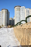 A winter view in Astana Stock Photo