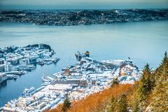 Winter view on Bergen Royalty Free Stock Photography