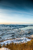 Winter view on Bergen Royalty Free Stock Image