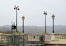 Winter view of the boulevard of Pyrenees, Pau Royalty Free Stock Image