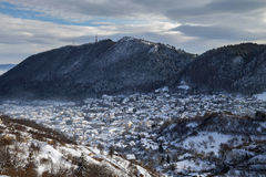 Winter view of Brasov medieval city Stock Photography