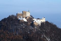 Winter view of the Buchov Castle Stock Images
