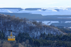 Winter view of the cableway in Kislovodsk, Northern Caucasus, Ru Royalty Free Stock Photos