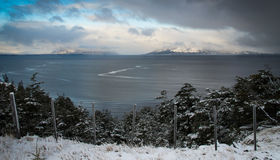 Winter View of Chilean Patagonia Gulf Stock Photo