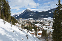 Winter view of Davos Stock Images