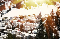 Winter view of Davos Stock Photography