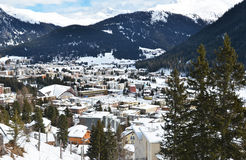 Winter view of Davos Royalty Free Stock Photos