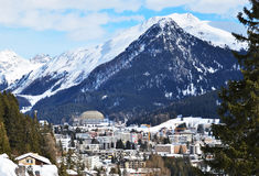 Winter view of Davos Stock Photos