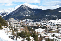 Winter view of Davos Royalty Free Stock Photography
