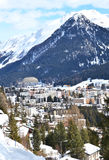 Winter view of Davos Stock Photo