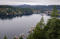 Winter view of  Deep Cove Royalty Free Stock Images