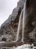 Winter view of Emerald Falls in Zion Canyon Royalty Free Stock Image
