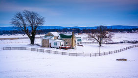 Winter view of a farm in rural Adams County, Pennsylvania. Winter view of a farm in rural Adams County, Pennsylvania Stock Photo