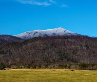 Winter View of Flat Top Mountain. A winter view of the Flat Top Mountain from Bedford County, Virginia, USA stock photography