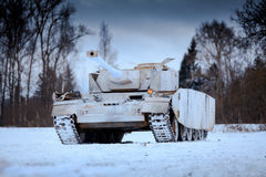 Winter view of the german WWII tank panzer Pz. IV. Stock Photography