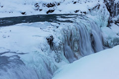 Winter view of the Gullfoss falls, Iceland Stock Photography