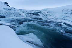 Winter view of the Gullfoss falls, Iceland Royalty Free Stock Photography