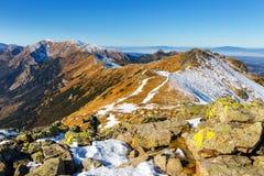 Winter view of High Tatra Mountains Stock Photo