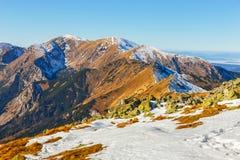 Winter view of High Tatra Mountains Stock Photos