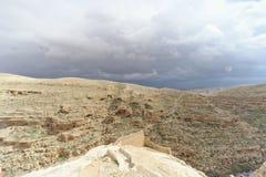 Winter view of the hills in the Judean Desert near Bethlehem. Israel. Stock Photos