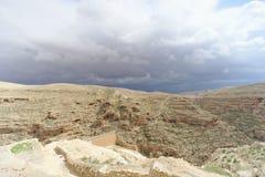 Winter view of the hills in the Judean Desert near Bethlehem. Israel. Stock Image