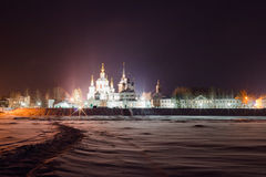 Winter view of historical centre. Veliky Ustyug, Russia. Royalty Free Stock Images
