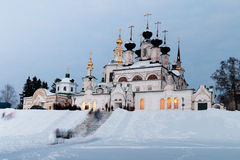 Winter view of historical centre. Veliky Ustyug, Russia. Royalty Free Stock Photography