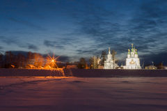 Winter view of historical centre. Veliky Ustyug, Russia. Stock Image