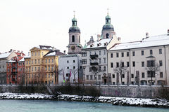 Winter view of Innsbruck, Tirol, Austria Royalty Free Stock Images