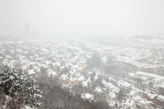 Winter view of Jena Royalty Free Stock Images