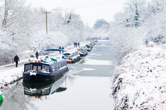 Winter View of Kennet and Avon Canal Stock Photos