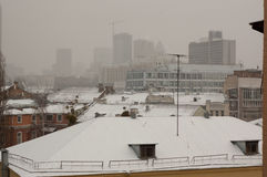 Winter view of Kiev city Stock Image