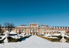 Winter View of La Granja de San Ildefonso Stock Photo