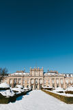 Winter View of La Granja de San Ildefonso Stock Photos