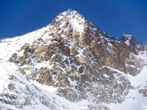 Winter view of the Lomnicky peak (Lomnicky stit) Stock Photos