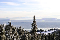 Winter View of Lower Mainland, BC Stock Photography