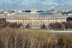 Winter view of Luzhniki sport complex in Moscow Royalty Free Stock Photography