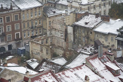 Winter view of Lviv Royalty Free Stock Photos