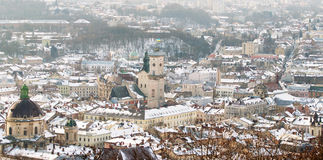 Winter view of Lviv, Ukraine Royalty Free Stock Image