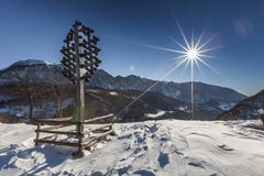 Winter. View in Mehedinti, Romania Stock Image