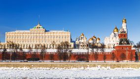 Winter view of the Moscow Kremlin, Russia Royalty Free Stock Image