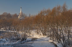 Winter view in Moscow Royalty Free Stock Photos