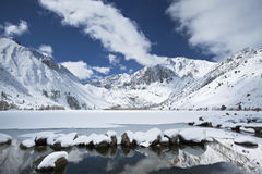 Winter view of a mountain lake Stock Image
