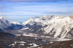 Winter view of mountain valley Stock Photo