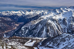 Winter view of the mountains in Pejo, Italy Stock Photos